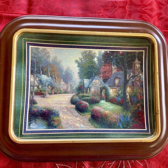 "Thomas Kinkade's ""Cobblestone Lane"" - Plate"